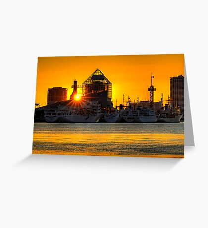 First sunrise of the New Year, 2009; Tokyo Bay, Japan Greeting Card