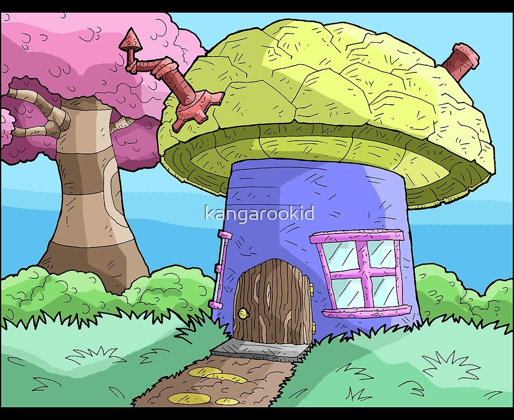 mushroom house... by kangarookid