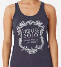 House Solo (weißer Text) Racerback Tank Top