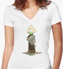 Steven universe - peidot Women's Fitted V-Neck T-Shirt