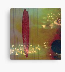 Red Brush Canvas Print