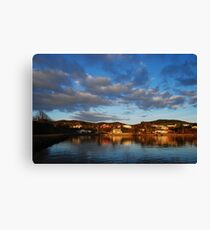 Seaside Town Canvas Print