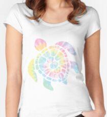 Tie Dye Sea Turtle Women's Fitted Scoop T-Shirt