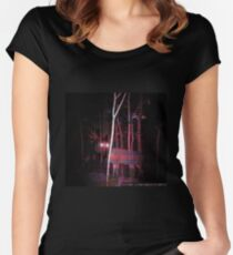 Creepy Cryptid Deer Women's Fitted Scoop T-Shirt