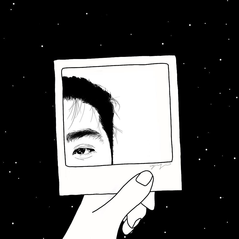 star x polaroid x eye by Yoyo Huang