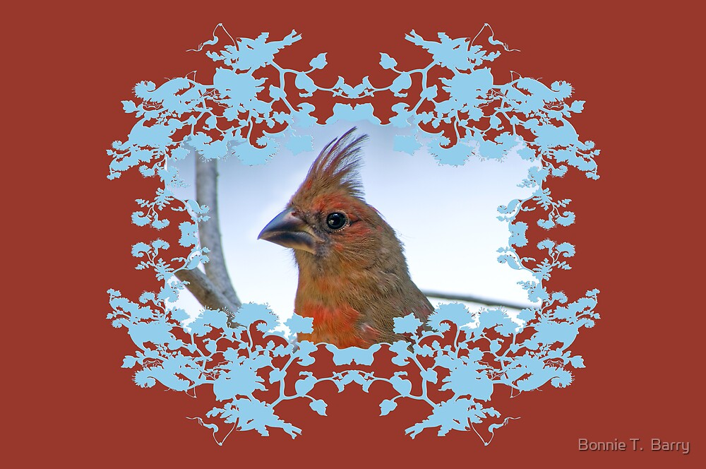 Northern Cardinal Greeting Card by Bonnie T.  Barry