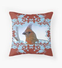 Northern Cardinal Greeting Card Throw Pillow