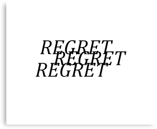regret aesthetic typography by MoonStatic
