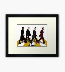 walk together at abbey road Framed Print