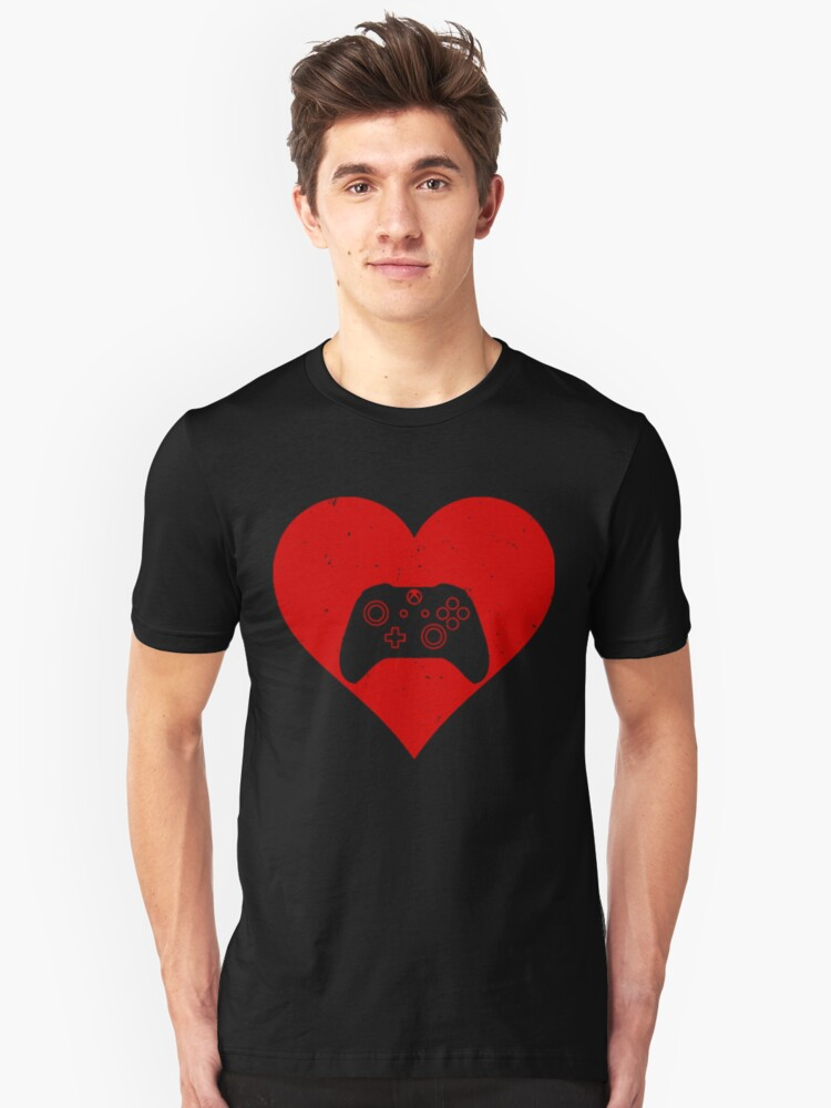 Gaming Heart Unisex T-Shirt Front