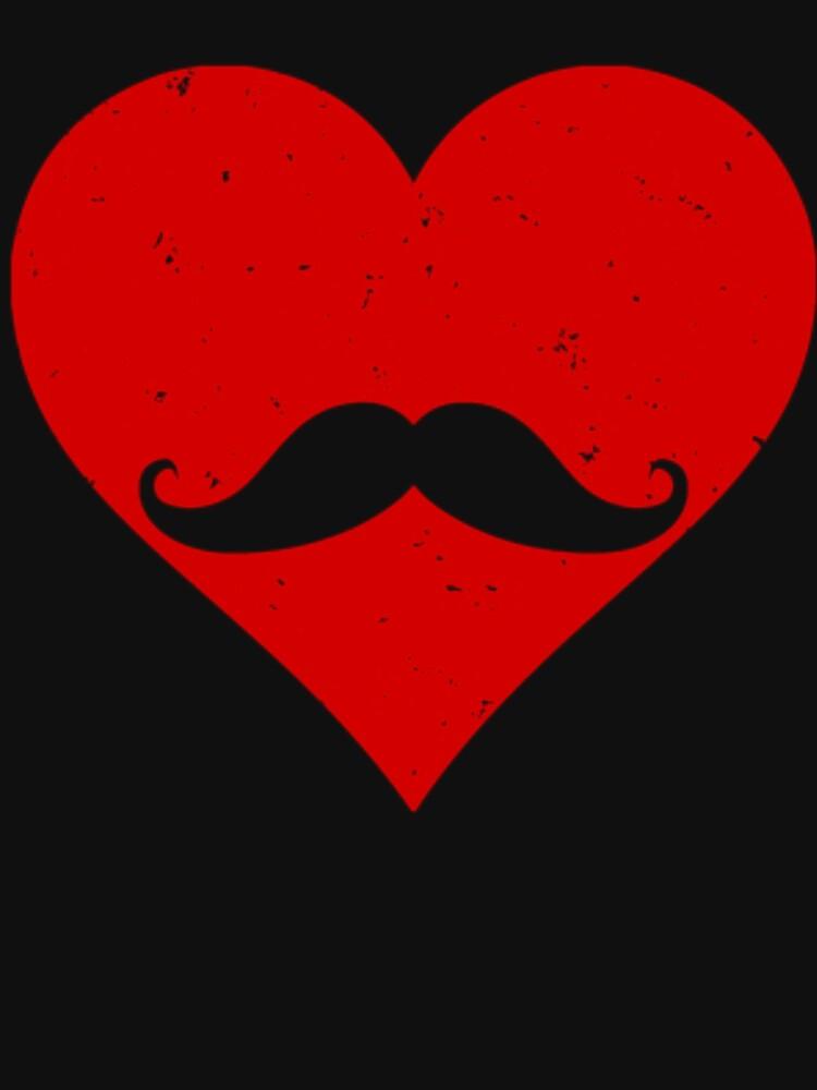 Mustache Heart by dealzillas