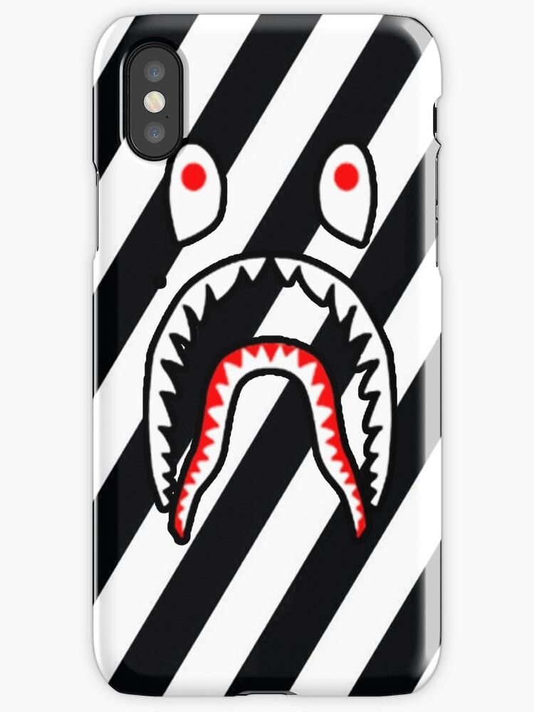 Shark Case Bape White by Mcclellanjim