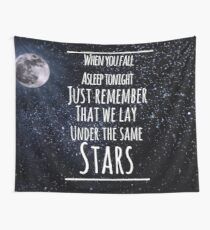 never be alone lyric moon Wall Tapestry