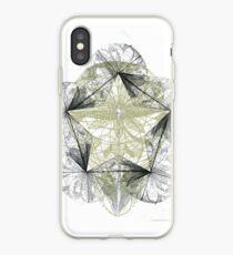 Lotus Crucifix Template iPhone Case