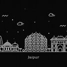 Jaipur Skyline Minimal Line Art Poster by A Deniz Akerman