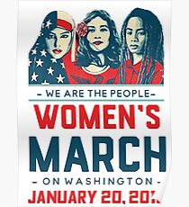 Washington WOMEN'S MARCH 2018 (We Are The People) Poster