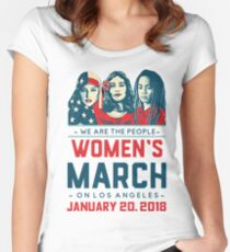 Los Angeles WOMEN'S MARCH 2018 (We Are The People) Women's Fitted Scoop T-Shirt