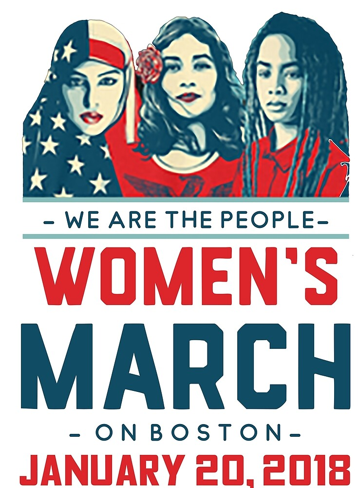 Boston WOMEN'S MARCH 2018 (We Are The People) by yusniah