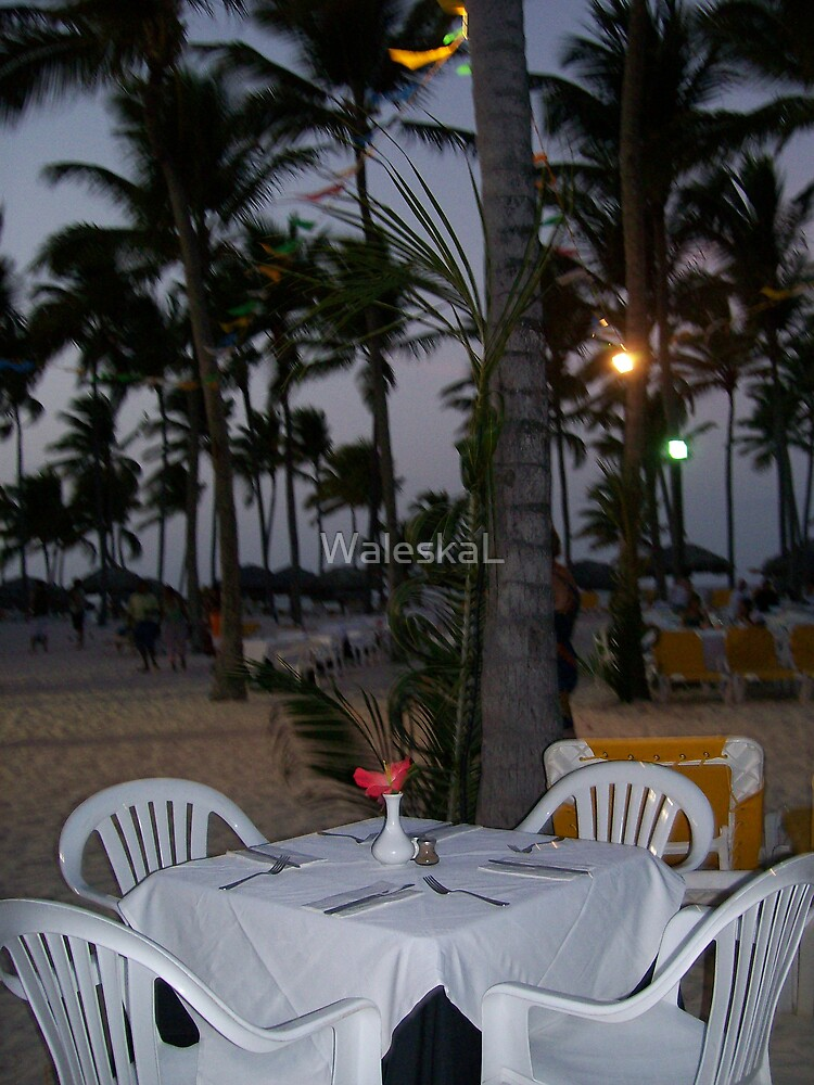 Romantic Table By the Ocean  by WaleskaL