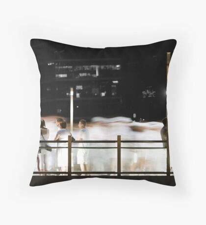 As the Ghosts Walk By Throw Pillow