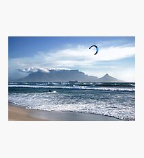 Kite Surfing in Cape Town, South Africa Photographic Print