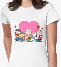 Peanuts valentine day Women's Fitted T-Shirt