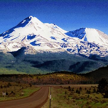 Mt. Shasta Graphic by Lines