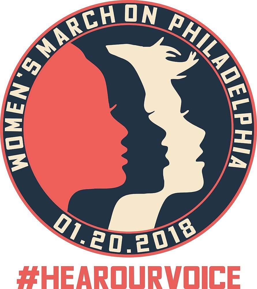 Philadelphia Women's March 2018 #Hearourvoice  by yusniah