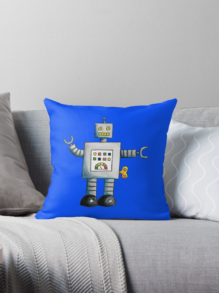 Robot (Blue Background) by christinaashman