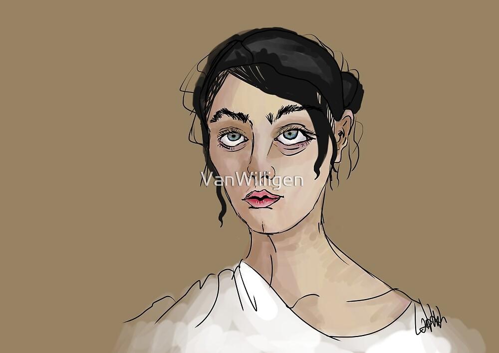 Greek Lady Sketch by VanWilligen