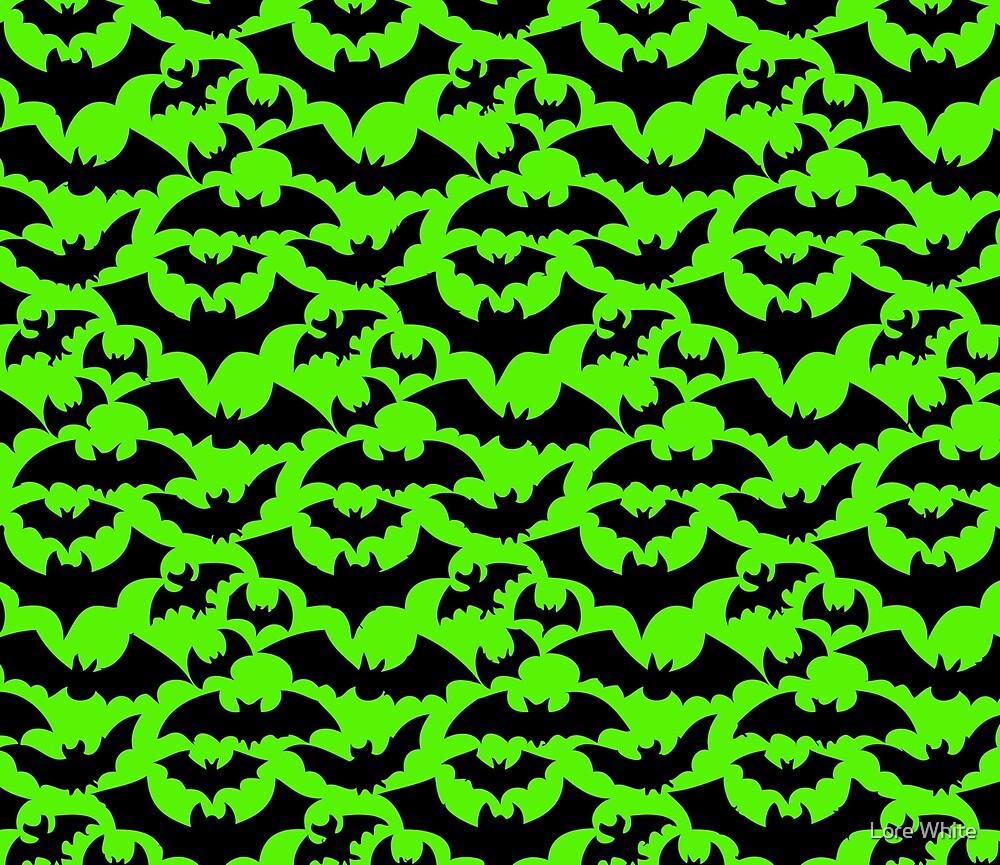 Bats Fluro Green by Lore White