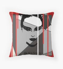 Black Swan Poster Throw Pillow