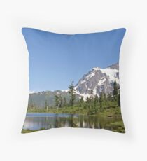 """Mount Shuksan and Picture Lake"" Throw Pillow"
