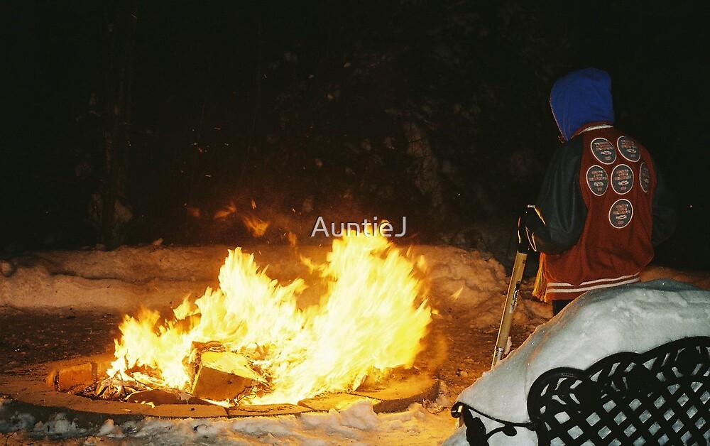 CHRISTMAS NIGHT FIRE  by AuntieJ