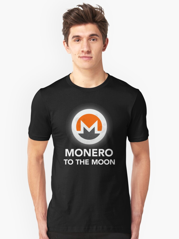 Monero To The Moon - Monero Coin Cryptocurrency  Unisex T-Shirt Front