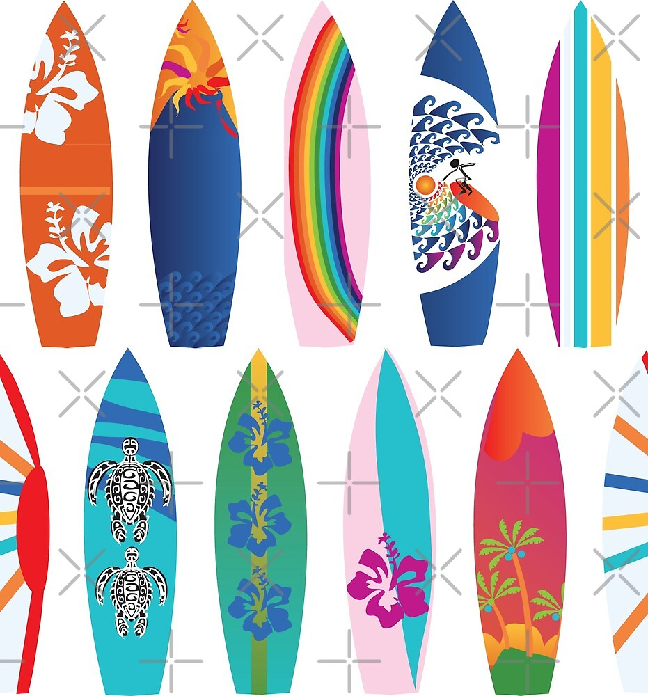 Surf Board Line Up by Colour Angel by KV