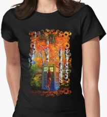 13th Doctor is Coming oil paintings Women's Fitted T-Shirt