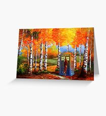 13th Doctor is Coming oil paintings Greeting Card