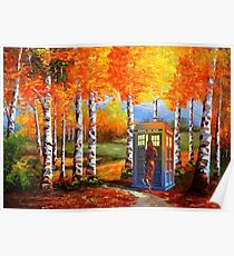 13th Doctor is Coming oil paintings Poster