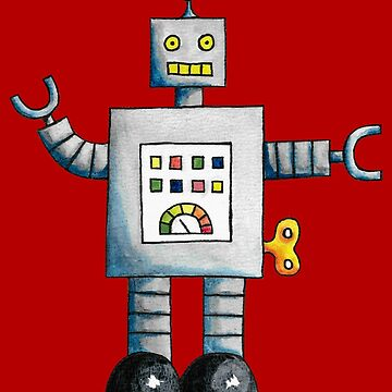 Robot (Red Background) by christinaashman