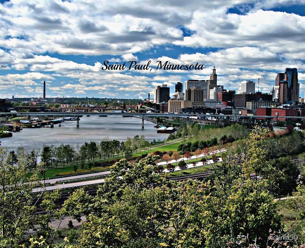 Saint Paul, Minnesota panorama photograph by virginia50