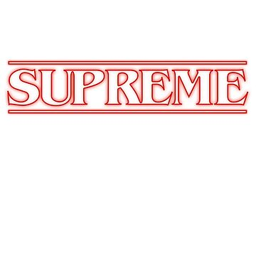 Supreme Stranger Things Title by charlie-