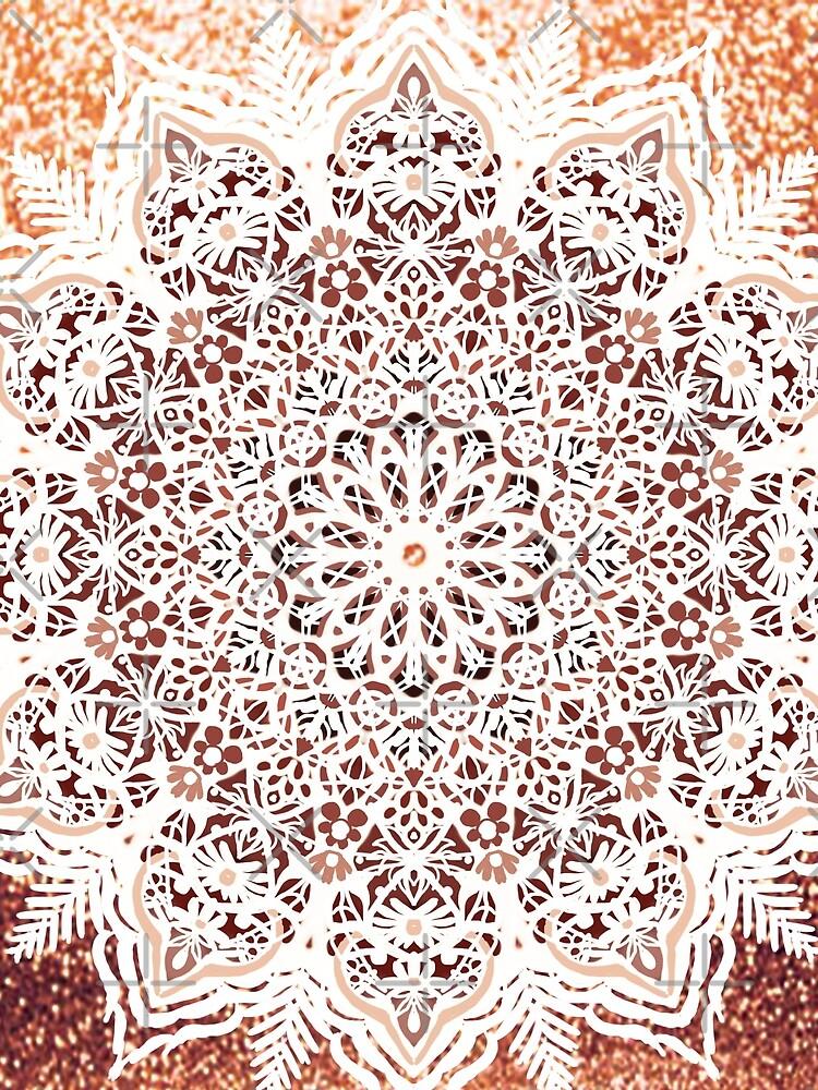 Rose Gold Glitter Mandala by artbysavi