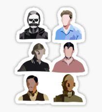 The Evolution of Evan Peters Sticker