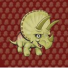 Cute Triceratops by Dave Stephens