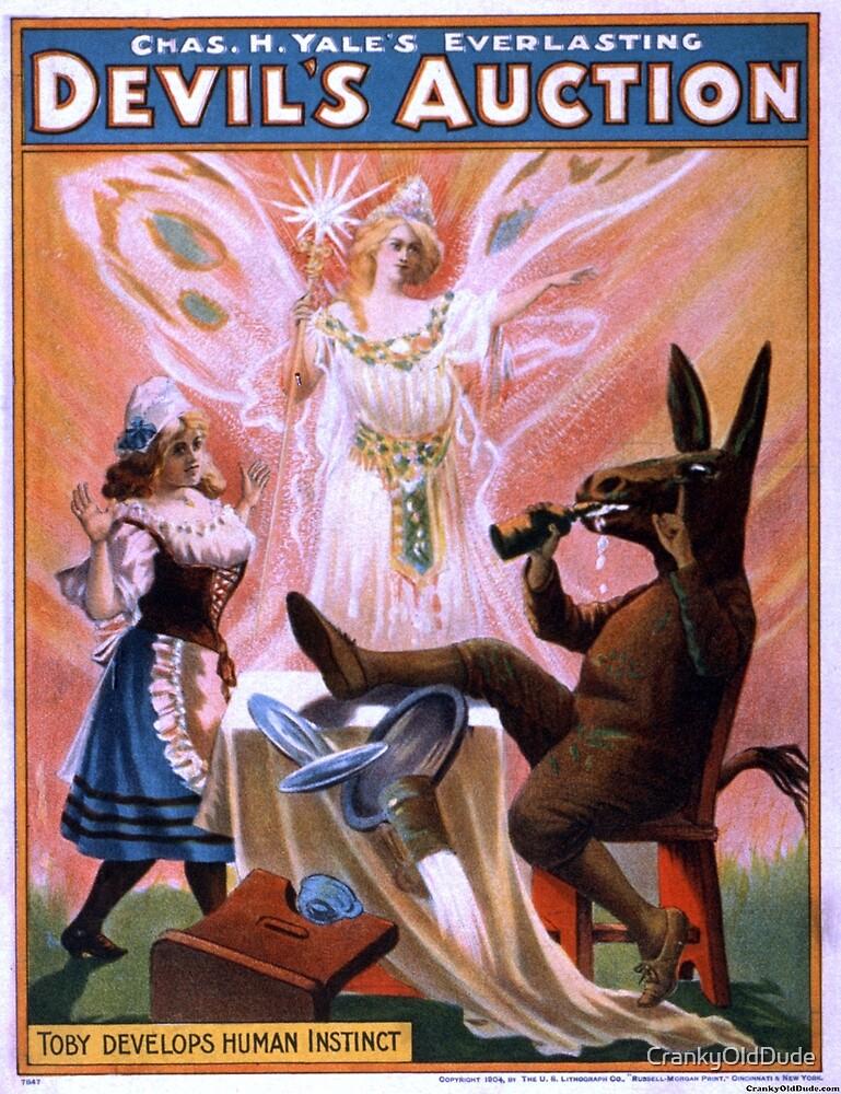 Devils auction - US Lithograph - 1904 by CrankyOldDude