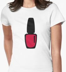 Red nail polish Womens Fitted T-Shirt