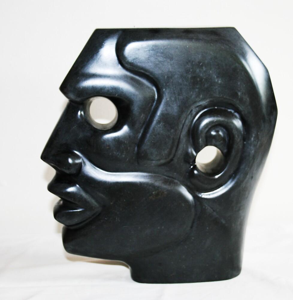 "Head ""in black slate"" Palmer River QLD by Hans  Nielsen"