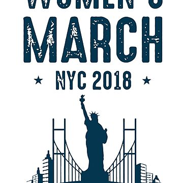 NYC WOMAN MARCH IS ON by jezzajaqueline