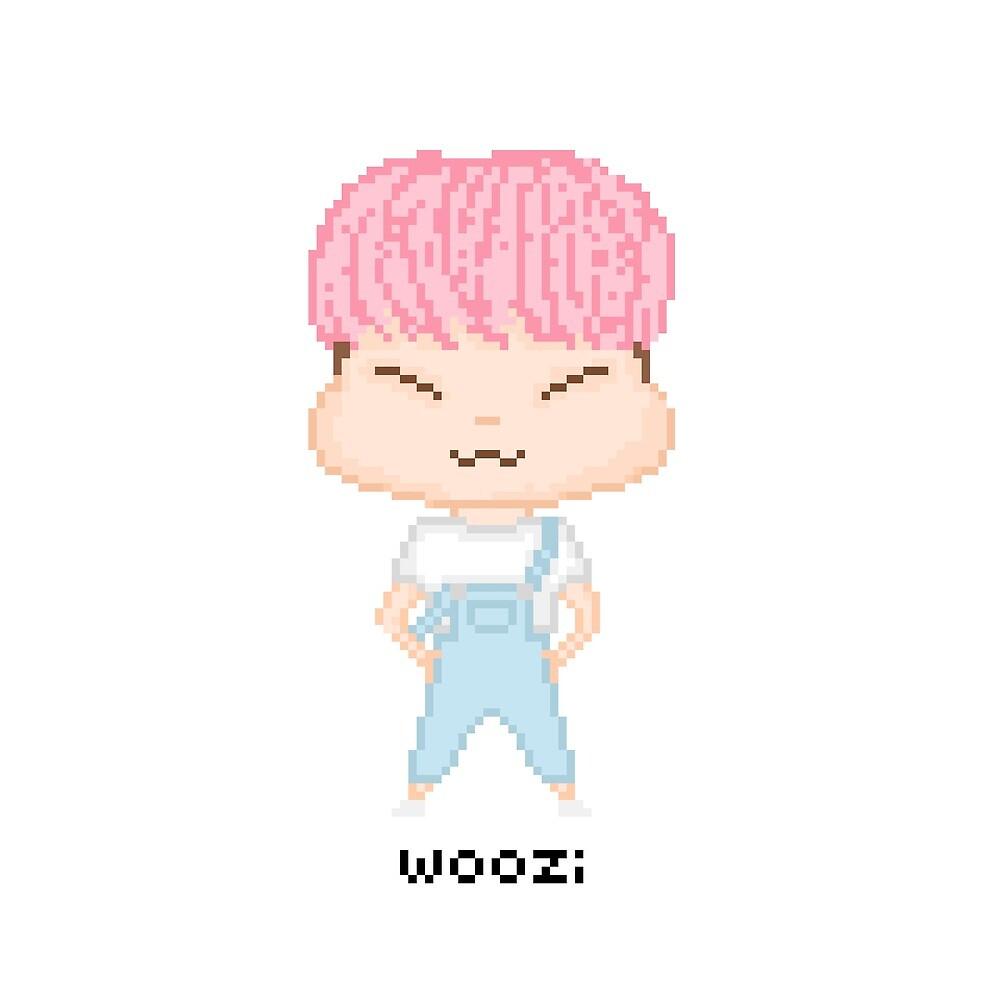 Pixel Woozi  by Lilypopsss